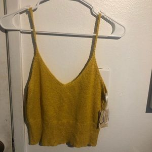 Forever 21 yellow crop cami top